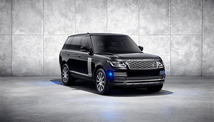 Front of Range Rover