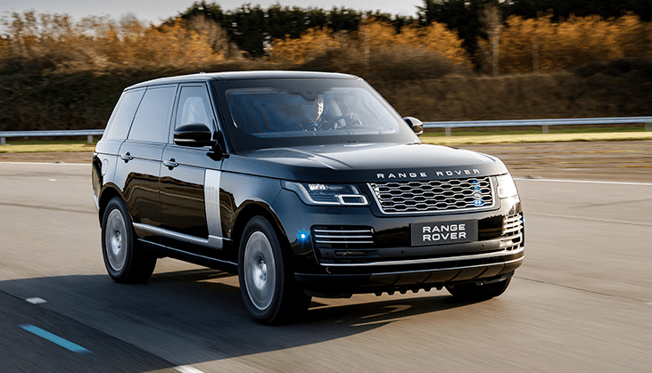 Range Rover on the road