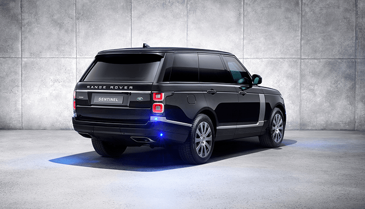 Range Rover from the rear